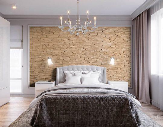 Revêtement mural en bois : ce qu'il faut prendre en compte pour refaire une chambre à coucher.